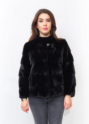 Меховая куртка из норки Black lame Monolist-Sons 1001273