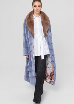 Меховое пальто из норки Manolis-Sons 1002164